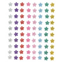 80 pc adhesive flowers 6mm