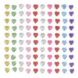 100 pc adhesive hearts 6mm