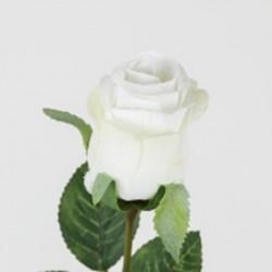 Rose bouton 68cm blc